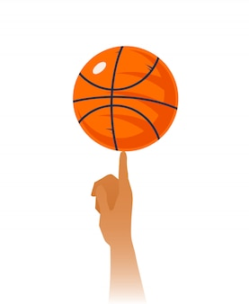 Ilustração de closeup de habilidades de basquete