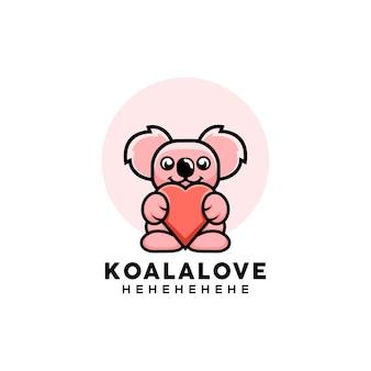 Ilustração de coala bonito estilo desenho animado