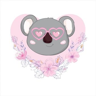 Ilustração de coala fofa