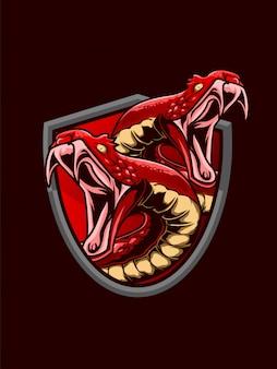 Ilustração de cobra garaga