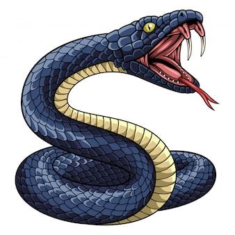 Ilustração, de, cobra, mascote