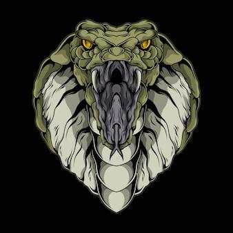 Ilustração de cobra rei