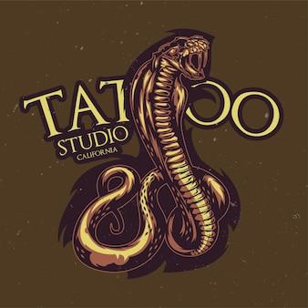 Ilustração de cobra