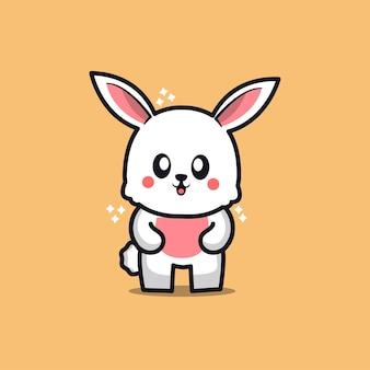 Ilustração de coelho feliz de desenho animado