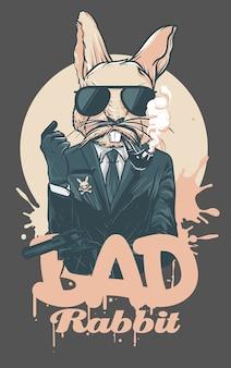 Ilustração de coelho ruim