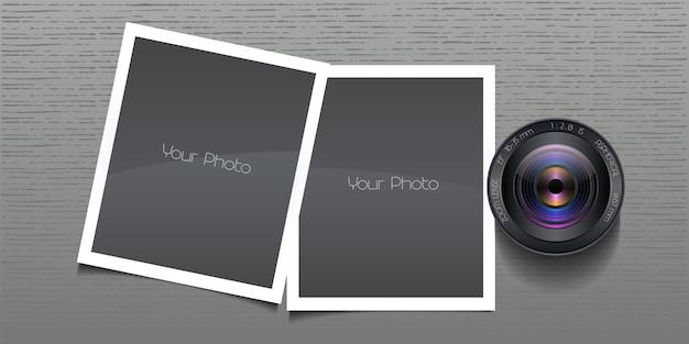 Ilustração de colagem de molduras de fotos