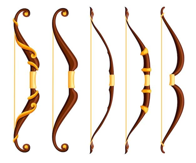 Ilustração de coleção de armas de arco
