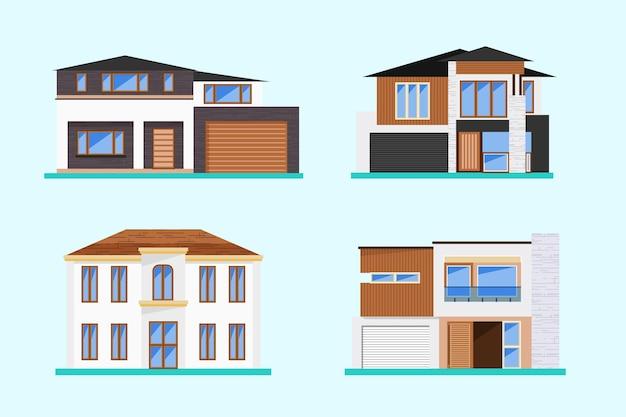 Ilustração de coleção de casa