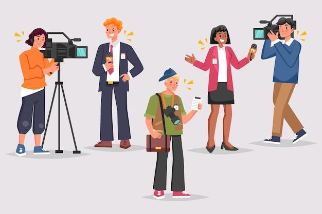 Ilustração de coleção de jornalista