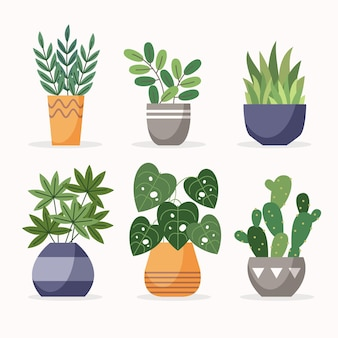 Ilustração de coleção de planta de casa