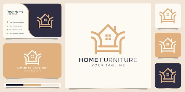 Ilustração de combinação de cadeira de mobília para casa minimalista
