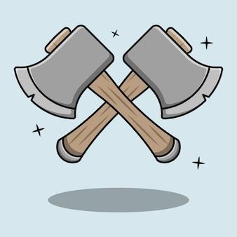 Ilustração de combinação de mini machado