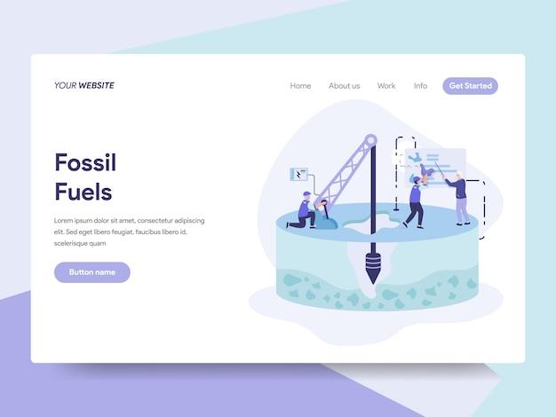 Ilustração de combustível fóssil
