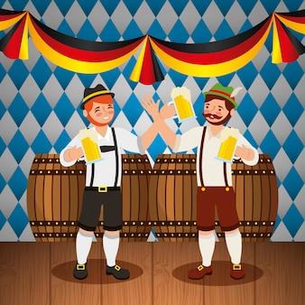 Ilustração de comemoração da oktoberfest, festival de cerveja