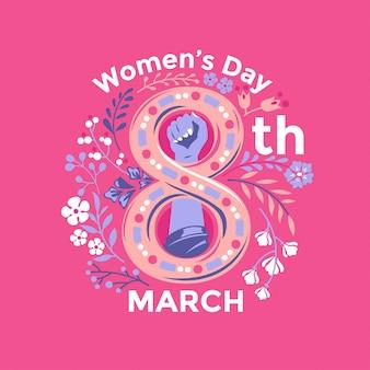 Ilustração de comemoração do dia da mulher