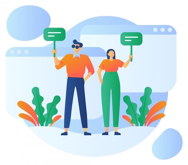 Ilustração de comentários de clientes