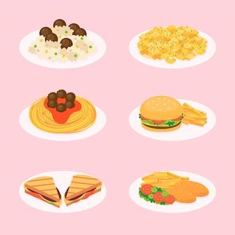 Ilustração de comida de conforto