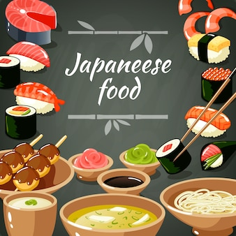 Ilustração de comida de sushi