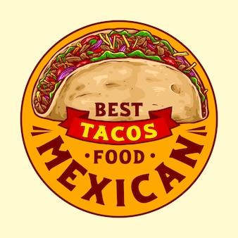 Ilustração de comida mexicana taco