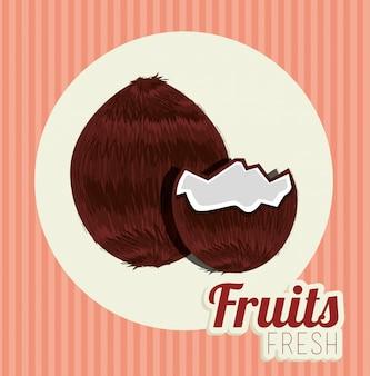 Ilustração de comida saudável de frutas