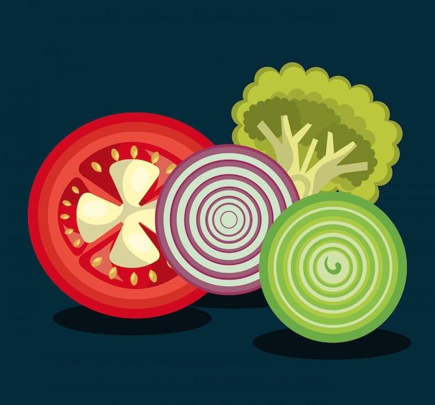 Ilustração de comida saudável