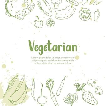 Ilustração de comida vegetariana