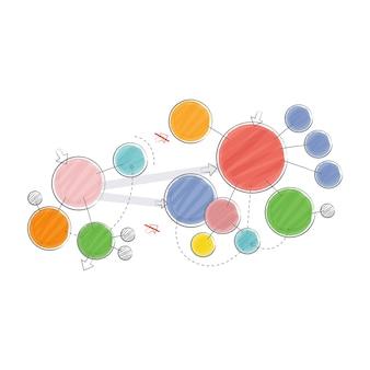 Ilustração de compartilhamento de rede