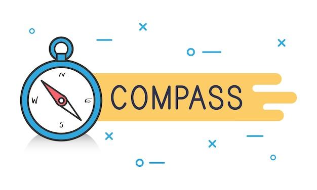 Ilustração, de, compasso