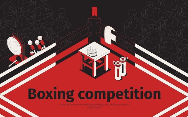 Ilustração de competição de boxe