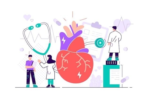 Ilustração de complicações do sistema circulatório
