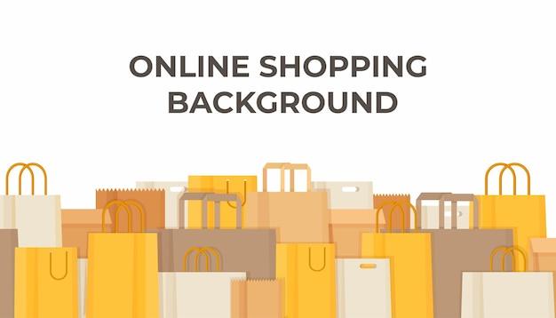 Ilustração de compras e compras online. venda e negócios.