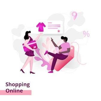 Ilustração de compras online