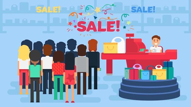 Ilustração de compras