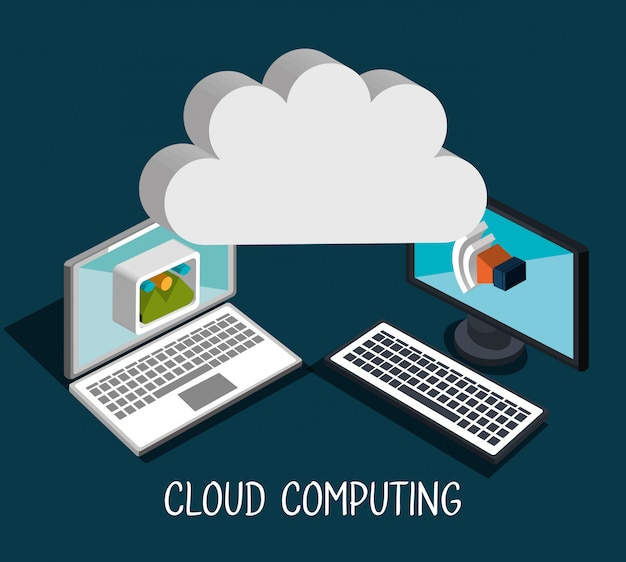 Ilustração de computação em nuvem