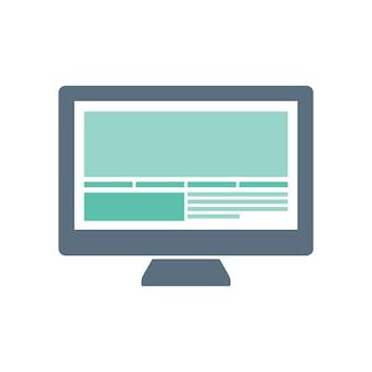 Ilustração, de, computador, ícone