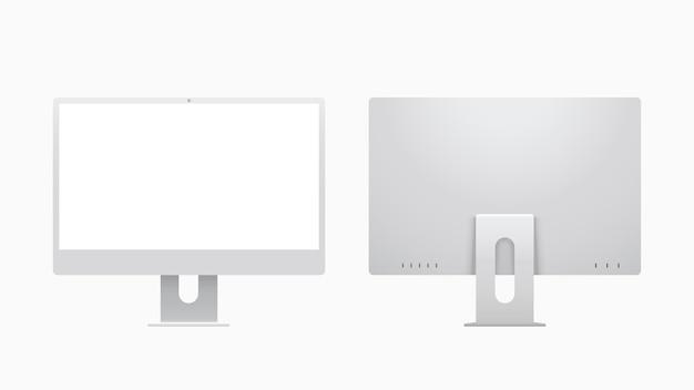 Ilustração de computadores desktop modernos