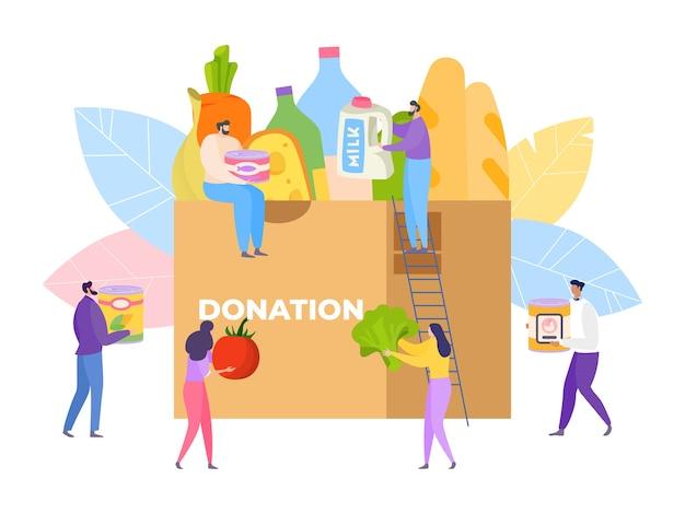 Ilustração de comunidade de caridade alimentar