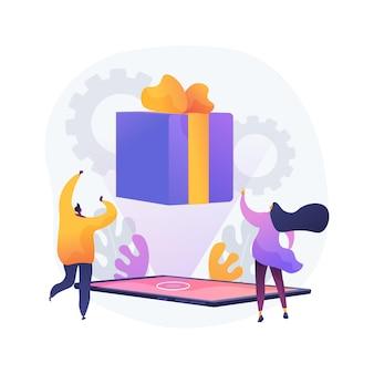 Ilustração de conceito abstrato de cartão-presente digital