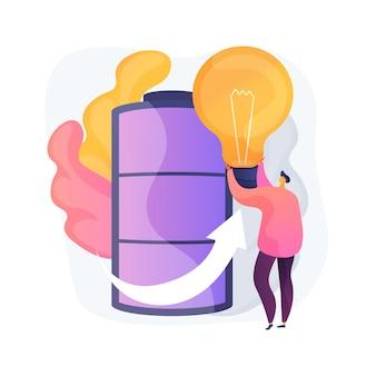 Ilustração de conceito abstrato de tecnologia de bateria inovadora