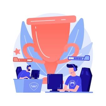 Ilustração de conceito abstrato de torneio de e-sport