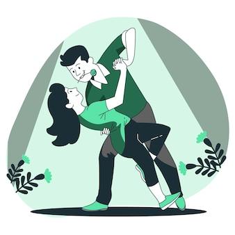 Ilustração de conceito apaixonado
