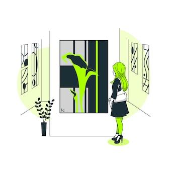 Ilustração de conceito de amante de arte