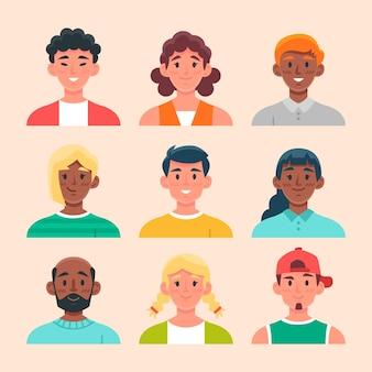 Ilustração de conceito de avatares de pessoas
