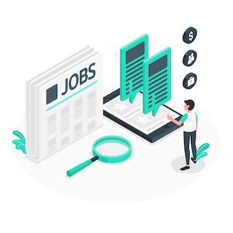Ilustração de conceito de busca de emprego