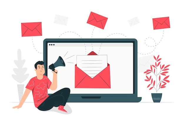 Ilustração de conceito de campanha de e-mail
