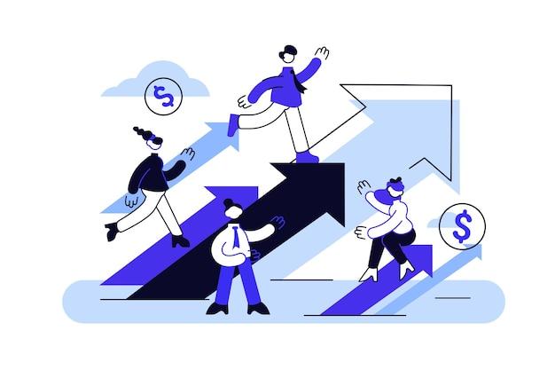 Ilustração de conceito de crescimento de carreira