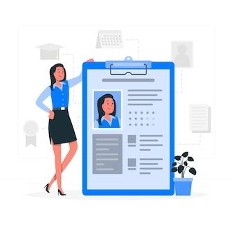 Ilustração de conceito de dados de perfil