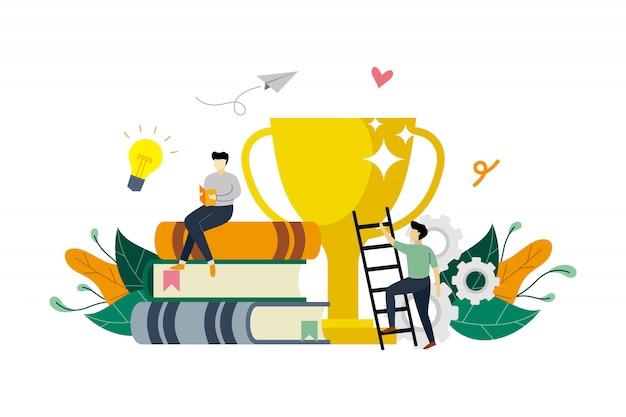 Ilustração de conceito de educação de sucesso