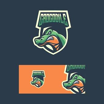 Ilustração de conceito de esporte de crocodilo