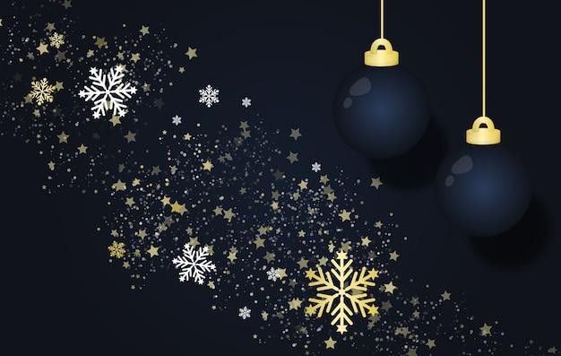 Ilustração de conceito de fundo de férias de ano novo e feliz natal.